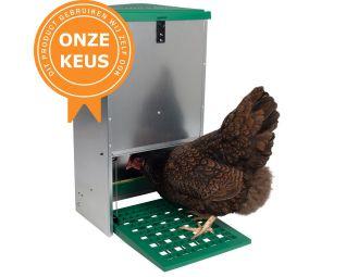 trapbak, voederbak kippen